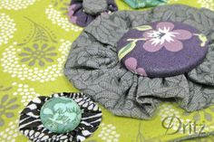 Sewing Tutorial: How to Sew Yo-yos and Cover Buttons. From the Dritz make something blog. #sewing #DIY #fabric