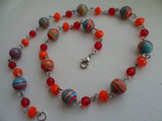 """Original """"Carnivale"""" Turkey turquoise necklace by tcupcreations, $20.00"""