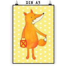 Poster DIN A3 Fuchs Laterne aus Papier 160 Gramm  weiß - Das Original von Mr. & Mrs. Panda.  Jedes wunderschöne Motiv auf unseren Postern aus dem Hause Mr. & Mrs. Panda wird mit viel Liebe von Mrs. Panda handgezeichnet und entworfen.  Unsere Poster werden mit sehr hochwertigen Tinten gedruckt und sind 40 Jahre UV-Lichtbeständig und auch für Kinderzimmer absolut unbedenklich. Dein Poster wird sicher verpackt per Post geliefert.    Über unser Motiv Fuchs Laterne  Die Fox Edition ist eine…