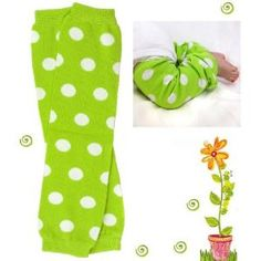 bright green Polka Dot baby girl & boy leg warmers by My Little Legs - Dinosaur