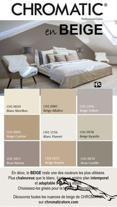In decoration BEIGE remains one of the most used colors More warm q En d co le BEIGE reste une des couleurs les plus utilis es Plus chaleureux q In decoration BEIGE remains one of the most used colors Warmer than white it creates a timeless background Interior Paint Colors For Living Room, Paint Colors For Home, Bedroom Colors, House Colors, Living Room Decor, Bedroom Decor, Color Palette For Home, Home Staging, Colorful Interiors