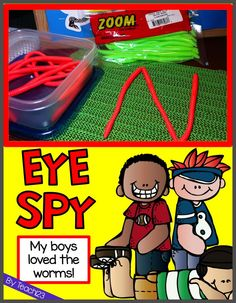 Eye Spy: Hands on fun for Guided Reading and more!  These are a fun addition to your word work center.  My boys loved them.