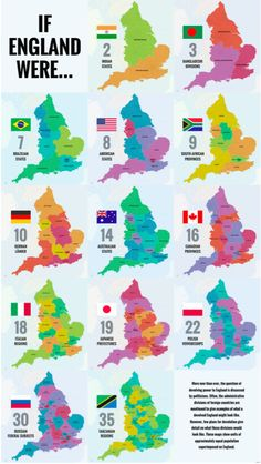 40 Ways to Carve Up England - Big Think Uk History, British History, History Facts, European History, Map Of Great Britain, Britain Map, Geography Map, Ap Human Geography, African States