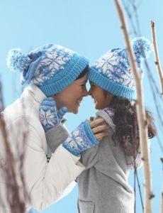 Frozen Mittens | Yarn | Free Knitting Patterns | Crochet Patterns | Yarnspirations