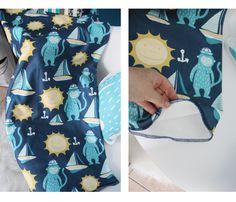 Copertina in pile per bambini con pattern a tema marinaro, barca a vela, sole, ancore e scimmietta di IlluminoHomeIdeas su Etsy