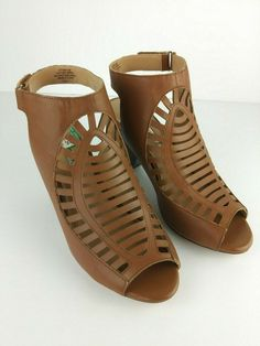 7d88b8a9cb Brown Size 8.5 Audrey Brooke Kansas-AB Leather Women's Shoes S5 #fashion  #clothing #shoes #accessories #womensshoes #heels (ebay link)