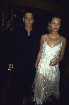 "a-state-of-bliss: ""Johnny Depp & Kate Moss wearing Calvin Klein 1994 "" Fashion Models, Fashion 90s, Vintage Fashion, Christy Turlington, Gwyneth Paltrow, Double Denim, Toni Garrn, Johnny Depp, Queen Kate"