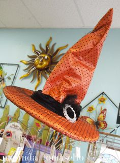 Love this witch hat from Home & Garden Treasures in Mount Dora, FL.
