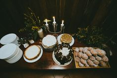 desert table - maybe just donuts and ice cream?