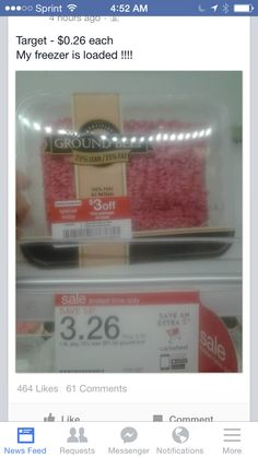 Look for coupons on target meat
