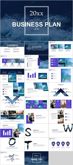 handsome company business report powerpoint template pcslide com