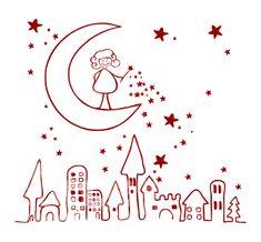 Vinilos Decorativos Infantiles Lluvia de Estrellas - Comprar en Tienda Online-Venta por Internet-Adhesivos decorativos