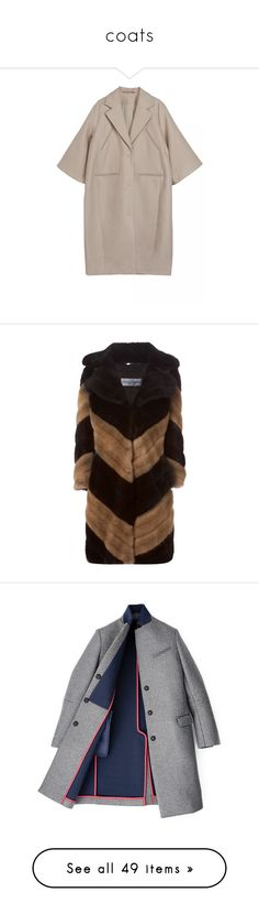 """""""coats"""" by kristina-bishkup ❤ liked on Polyvore featuring jackets, outerwear, coats, fur, stripe coat, brown coat, faux coat, vintage coat, dolce gabbana coat and coats & jackets"""