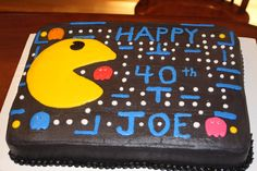80's themed pac man cake all in buttercream