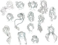 anime hair by Aii-Cute.deviantart.com on @DeviantArt