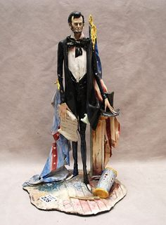"""228: Italian sculpture of Abraham Lincoln """"Lo Scricciol : Lot 228"""