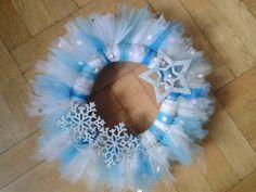 """Mama kreatywnie: Podgląd """"Zimowy wieniec z tiulu"""" diy sparkling winter christmas wreath tutorial"""