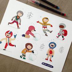 Little winter astronauts. Elise Gravel, Doodle Drawings, Illustration, Astronauts, Doodles, The Originals, Children, Snow, Instagram