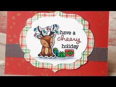 Christmas Card Series #2; Lawn Fawn - YouTube