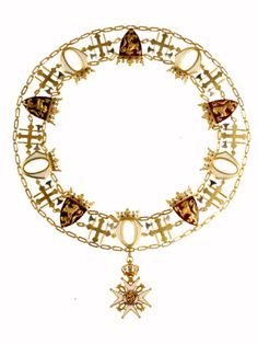 """The Royal Norwegian Order of St. Olav (Den Kongelige Norske St. Olavs Orden) was founded by King Oscar I in 1847. It is conferred as """"a reward for distinguished services rendered to the country and mankind"""". With the exception of foreign royalty and heads of state, the Order of St. Olav is only bestowed on Norwegian nationals. The Collar of the Order may also be conferred by the King on holders of the Grand Cross. The Grand Cross with the Collar represents the order's highest class."""