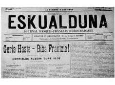 La presse d'Iparralde et la  première Guerre Mondiale (The press in Iparralde and the First World War) Larronde, Jean-Claude. Vasconia. 37, 2011, 305-322  Iturria: http://www.euskomedia.org/PDFAnlt/vasconia/vas37/37305322.pdf