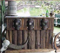Rustic bar for my saloon theme basement ideas