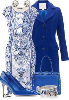 """devil's blue dress"" by thefarm on Polyvore"