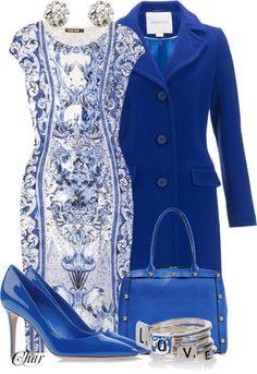 """ blue dress"" by thefarm ❤ liked on Polyvore"