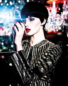 The Mojeh Magazine March/April 2012 Mordonova Photoshoot is Metallic #fashion trendhunter.com