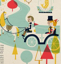 Illustration for Red Magazine, the on board magazine of TAM airlines