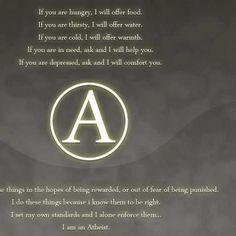 I am an atheist.