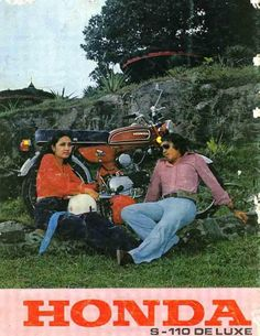 iklan honda paling romantis sepanjang masa...  #advertism #poster #old #skool #indonesian #art #design #honda