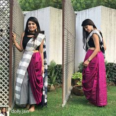 from - Drape a saree over your culottes. Urvashi looks stunning in a dyed silk saree by