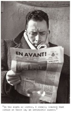 Camus: reading, at least, is not absurd.