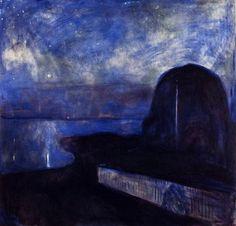 Starry Night, Edvard Munch 1893