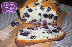 Blueberry Muffin Bread Recipe -- Swap out the white flour for a combination of whole wheat and almond flour, try stevia baking mix instead of white sugar, try some egg beaters and top with flax seeds before baking. Delish!