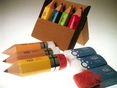 Pencils?   No...Eraser-Branded Cloths