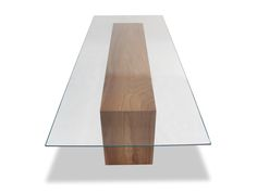 Glass Top Solid Wood Dining Table MidCentury Modern, Glass, Dining Room Table…