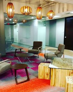A vibrant shot of our collaborative space in Dallas!  #Dallas #Coworking #office #modernoffice #Workstyle #vibrant