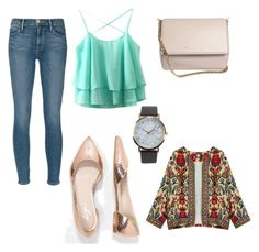 casual outfit by amra-fd on Polyvore featuring polyvore fashion style Frame Denim Zign Givenchy NLY Accessories clothing