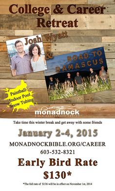 College and Career Retreat This January