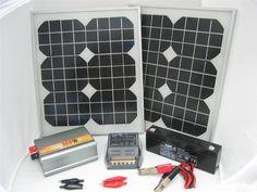 Sustentabilidade Energética Solar Termosolar e Eólica : Kit Fotovoltaico Solar 20W