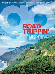 Go Magazine - April 2013 - Road Trippin' Road Trippin, Editorial Design, Adventure, Magazine Covers, Movie Posters, Necklaces, Film Poster, Adventure Movies, Adventure Books