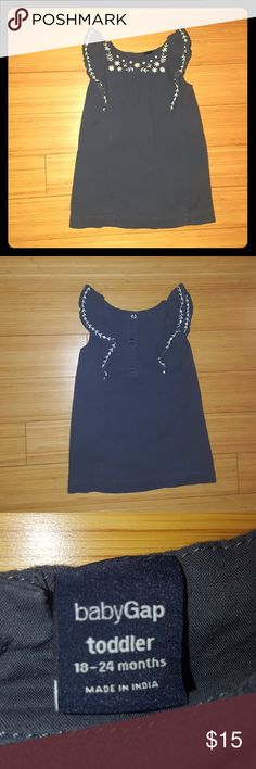 Baby Gap toddler dress Baby Gap Navy blue w/white flowers toddler dress 18-24 months. In excellent used condition. GAP Dresses Casual