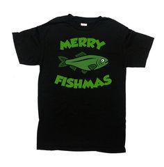 Funny Christmas Gifts For Fishermen Xmas Clothing Fishing T Shirt Holiday Present Fisherman TShirt Merry Fishmas Mens Ladies Tee - SA691