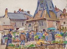Raoul Dufy Place Sainte Catherine, Raoul Dufy, Honfleur, Fauvism, Scenic Design, Henri Matisse, Printmaking, Paintings, Fine Art