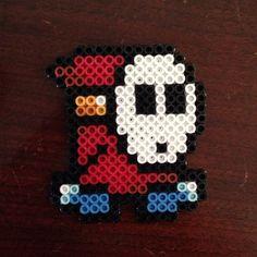 Shy Guy perler beads by kelsihobson