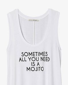 Express One Eleven Need A Mojito Tank from EXPRESS