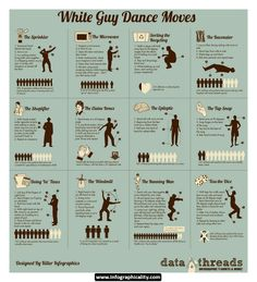 White Guy Dance Moves infographic #inforgraphic #white guys #dance #funny