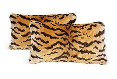 Le Tigre Cut-Velvet Pillows